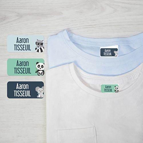 36 Étiquettes pour vêtements Ludisticks Animaux par Ludilabel | Haute Qualité Fabrication 100% Française | étiquettes vêtements enfants résistantes et faciles à coller.