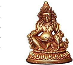 Buddha Statue of Huang Caishen, Pure Copper Zen Buddhist Statue, Religious Supplies, Home Decoration Ornaments, 4×5.5cm,Cr...