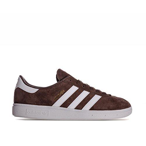 adidas Unisex Adults' München Low-Top Sneakers, Brown (Brown Brown), 3.5 UK