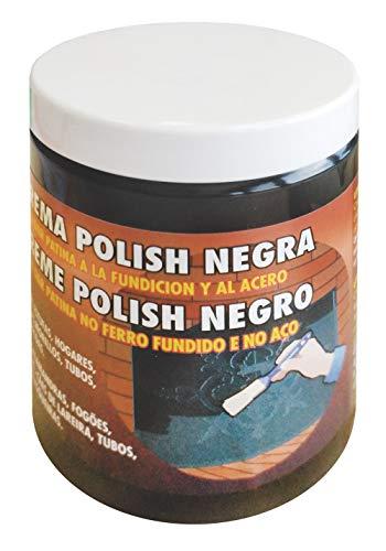 Pyro Feu 24801-12 Crema para pulir Metales y Hierro Protege chimeneas Tarro de 200 ml, Pasta de Grafito, Negra, Unico