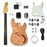 BexGears DIY Electric Guitar Kits For bass Guitar,Okoume Body maple neck & composite ebony fingerboard