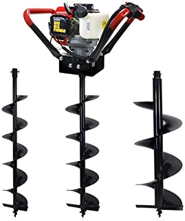 XtremepowerUS V-Type 55CC 2 Stroke Gas Post Hole Digger EPA CARB Auger Machine 3/4