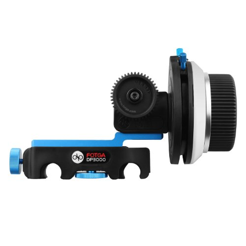 FOTGA DP3000 M4 DSLR Quick Release Follow Focus with A/B Stops for 15mm Rail Rod Rig System,Fits for Sony A7 A7R A7S II III GH4/5/5s,Canon 5D III IV,Nikon D90 D7100 D500