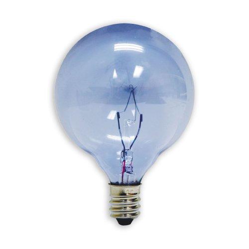 GE Lighting 48703 25-Watt Reveal Candelabra Globe G16.5 2-Pack, 2-Pack