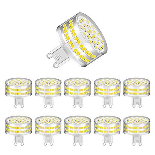MENTA Bombillas LED G9 9W (Equivalente a 90W Halógena), Blanco Frío 6000K, 800lúmenes, 360°ángulo de haz, 220-240 VAC, No Regulable, Garantía de 2 año, Pack de 10
