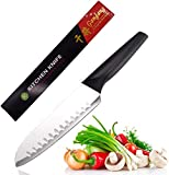 "Homstead Santoku Knife 7"" Sharpen Knives German High Carbon Stainless Steel,Anti-Corrosion and Anti-Tarnish Blade (Knife)"