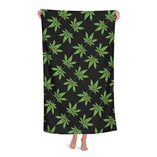 Towels Arte De Hoja De Marihuana Toallas De Piscina Uso Diario Toalla De Playa Cuidado Fácil Toallas De Baño por Playa Gimnasio Yoga 80X130 Cm
