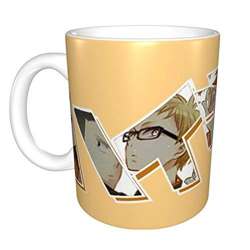 Haikyuu - Karas - Taza de café de cerámica divertida para el hogar, oficina, café, té, regalo de festival
