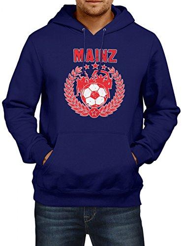 Mainz #3 Premium Hoodie | Fussball | Fan-Trikot | der 12. Mann | Herren | Kapuzenpullover, Farbe:Dunkelblau;Größe:3XL