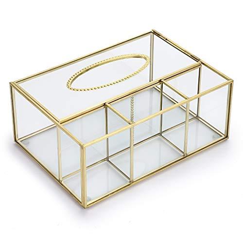 SUMNACON Caja de pañuelos Rectangular de Cristal Transparente, Caja de Control Remoto