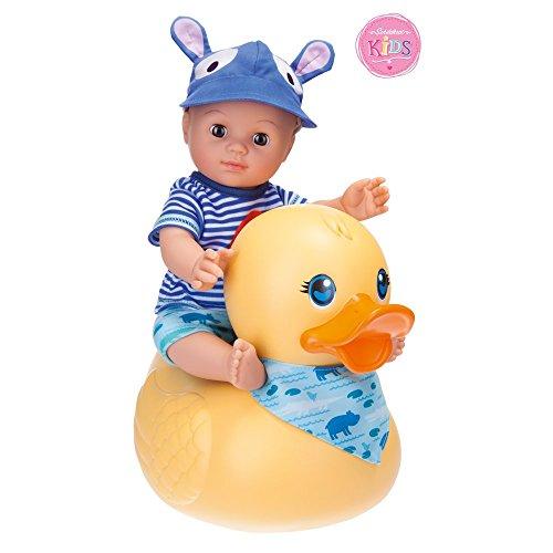Schildkröt 610300001 Puppe Schildkr&oumlt Kids Badepuppe Boy mit Schwimmente, 30cm, 30 cm