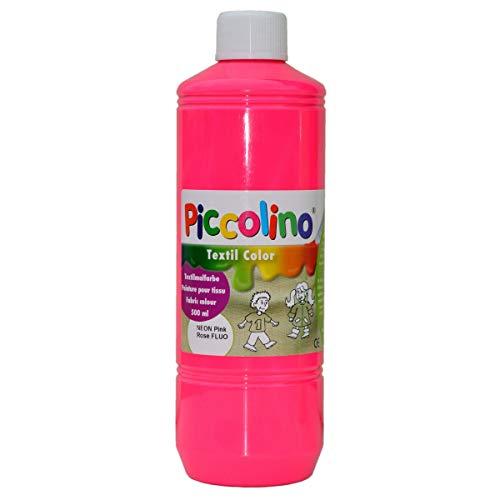 Piccolino - Pintura Textil (500 ml), Color Rosa neón