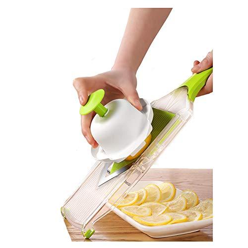 Premium V-Blade Mandolin Slicer, Cutter, Julienne and Food Grater. Best for Slicing Onions, Lemon, Potatoes, Fruit and Vegetables.