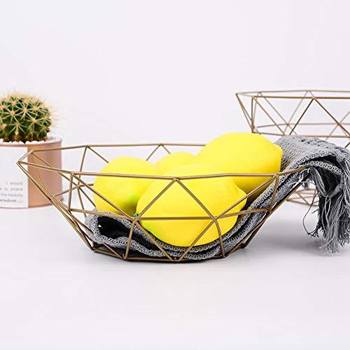 per Fruteros Creativos Cesto de Metal de Almacenaje para Frutas y Aperitivos Estantes para Almacenaje para Comidas Estilo N/órdico
