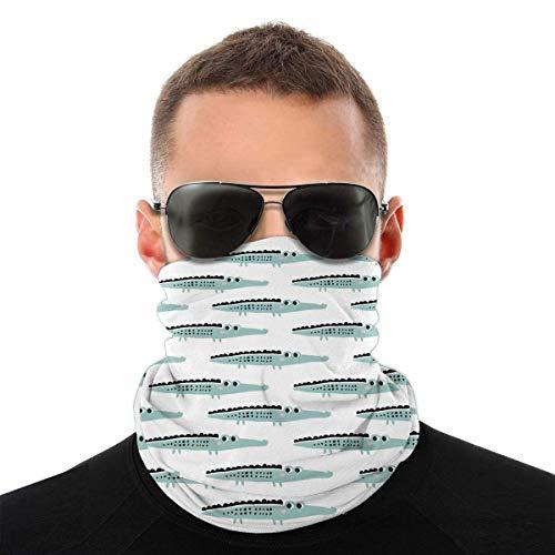 BDGAjdka Crocodile Hand Painted Face Face Scarf Seamless Bandanas Multifunctional Headwear for Men Women