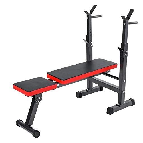 YNLRY Banco de pesas multifuncional plegable para entrenamiento con pesas y levantamiento de pesas, equipo de ejercicio para el hogar y gimnasio para hombres (color negro)
