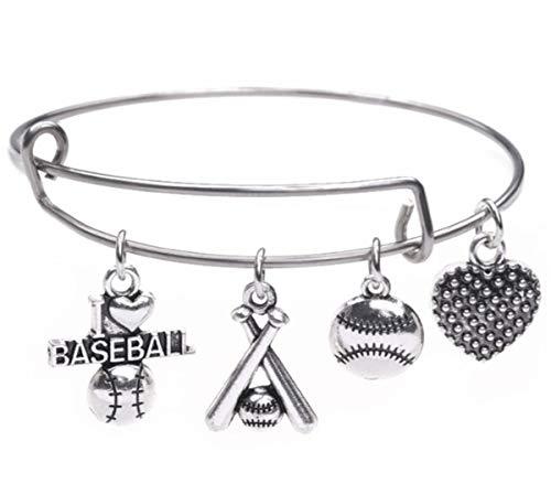 LIKGREAT Fußball-/Baseball-/Softball-Anhänger aus Edelstahl für Damen und Mädchen (Stil 2)