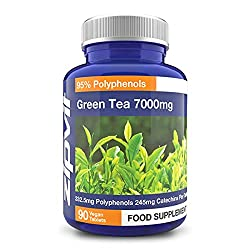 ★ 90 TABLETS OF GREEN TEA EXTRACT: Each convenient 1 a day tablet contains 95% Polyphenols 70% Catechins ★ VEGETARIAN SOCIETY APPROVED: Our High Strength Green Tea Extract has been approved by the Vegetarian Society as suitable for both Vegetarians a...