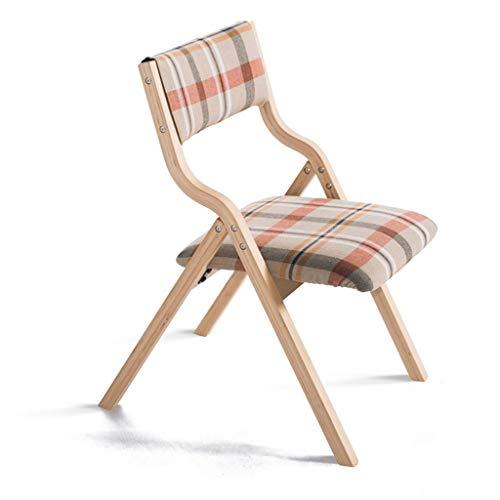 Barkruk, klapstoel, hout, met rugleuning, kan worden gebruikt voor huis en zakelijk, plaid rood, eettafel, eettafel, schminkstoel, voor kinderen en make-up