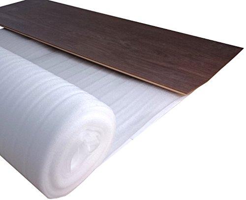 Laminat Trittschalldämmung uficell ULTRA PE-Schaum - Stärke 2 mm - Trittschalldämmung für Laminat und Parkettböden - Dichte: 20 kg/m² (25 m² | 1 Rolle)