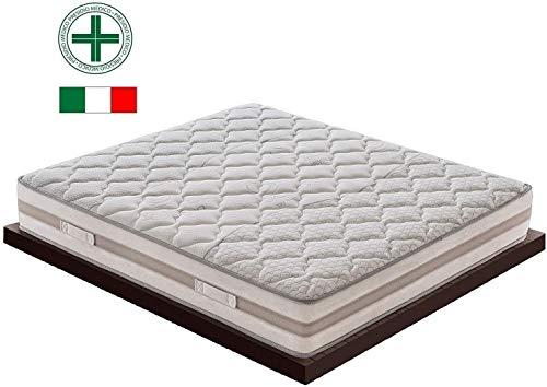 Black Friday matras voor tweepersoonsbed met 1600 onafhankelijke pocketveren, hoogte 25 cm, met 5 cm geheugenlaag met 9 verschillende zones, orthopedisch, ergonomisch