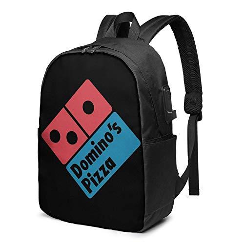 Do-Minos Pizza Rucksack Computer Rucksack Reisetasche für Geschäftsreisen Große Kapazität 17 Zoll mit USB-Schnittstelle