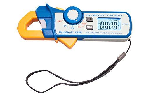 PeakTech P 1635 Stromzange, Kriechstromzange und Leckstromzange, mit 1 mA Auflösung und NCV, 1 Stück, P 1635
