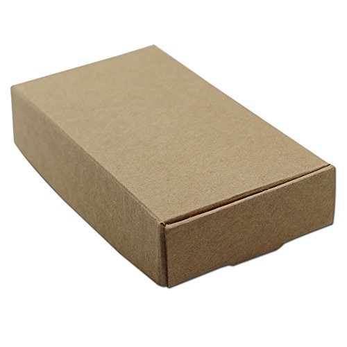 30Pcs Brown Kraft Paper Boxes Wedding Party Small Gift Box Handmade Soap Cake Chocolate Box Jewelry Pearl Crafts Packaging Box (11x6x2cm (4.3x2.4x0.8 inch))