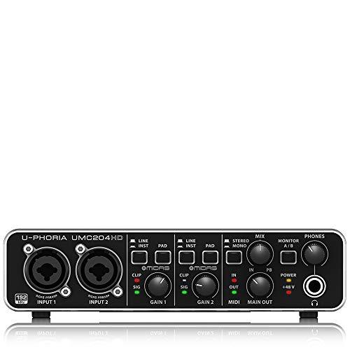 """Behringer UMC204HD U-Phoria USB Audio und\""""MIDI\"""" Interface"""