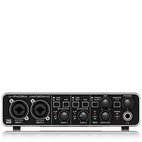 Behringer U-PHORIA UMC204HD Interface de audio/midi usb