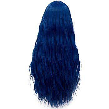Miracle &Forest Lady Collection Heat Resistant Synthetic Wigs Long Curly Women Cosplay Wig  70cm Royal Blue F9