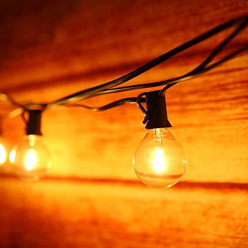 Cadena de luces, Tomshine Guirnaldas Luminosas LED G40 Blanco cálido No regulables 12 + 1 Bombillas de globo, IP 44 Resistente al agua para patio Iluminación de patio trasero Vacaciones de Navidad