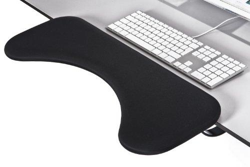 IOE-Rest Tischlehne • Handy Std für Tastaturarbeiten (groß) Lycra Stoff schwarz 67 x 23cm