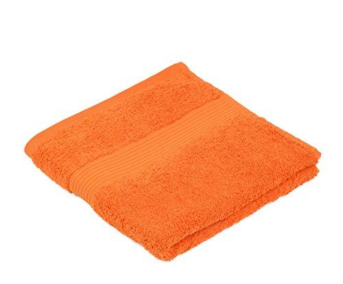 Gözze 550-0764-A4 - Juego de Toallas de Mano (algodón 100%, de Calidad, 550g/m², Tejido 100% ecológico, 2 Unidades), Color Naranja