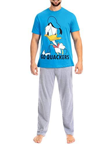 Disney Pijama para Hombre El Pato Donald Azul X-Large