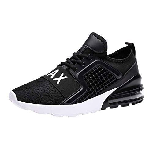Zapatillas de Running para Hombre Aire Libre y Deporte Transpirables Moda Casual Comodo Zapatos Gimnasio Correr Ligero Sneakers Absorción de Choque Zapatos para Correr vpass