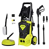 2000W 150Bar 450L/H Pressure Washer Patio Cleaner Power Washer with brush,turbo nozzle adjustable nozzle accessories for Garden Car Patio Yard Driveways