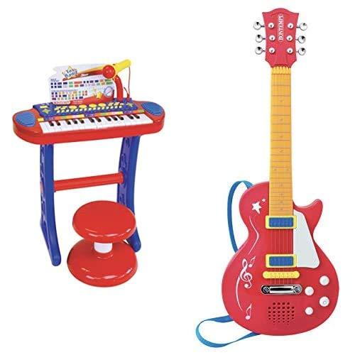 Bontempi 13 3240, Tastiera 32 Tasti Microfono E Sgabello & Chitarra Elettronica, 24 5831