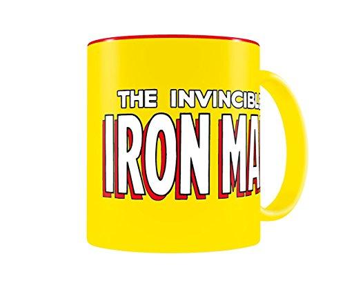 SD toys Marvel Comics Taza con diseño Iron Man, Cerámica, Amarilla y roja, 8 cm