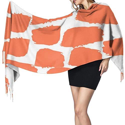 Las mujeres Bufandas Invierno Largo Suave Caliente Cepillo Textura Sin Costura Rojo Y Blanco Patrón Cashmere-como Pashmina Chales Envoltura Borla Chal Estola Bufanda