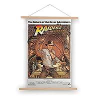 80X50CM-失われたアークの襲撃者(1981)映画ポスターキャンバス掛ける絵 吊り絵 巻物 軸物 壁畫 装飾画 インテリア 壁掛け 壁飾り ソファの背景絵画 玄関 リビングと寝室部屋飾り
