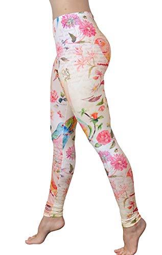 Comfy Yoga Pants - Soft Milk Silk Workout Leggings for Women - Fun Lightweight Printed Yoga Leggings (Letters from Paris, US 0-12)
