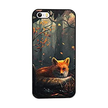 Andenley Fox iPhone Case Animal Style Scratch-Resistant Anti-Slip Shockproof Soft TPU Rubber Bumper Protective Case Cover iPhone 5/5s/SE 6/6s 6P,7/8,7P/8P  iPhone 5/5s/SE
