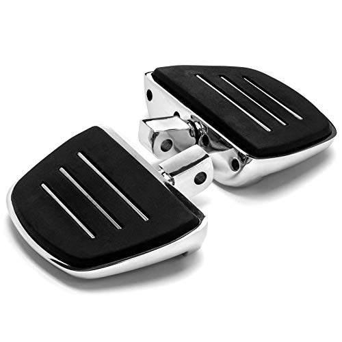 Krator Chrome Mini Board Floorboards Footpegs Compatible with Honda Shadow 600 VLX/Deluxe 1996-2007 (Rear Only)