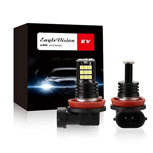 Lampadine per fari a LED H8 H9 H11, 12V 2400LM 6000K Luminosità Bianca Fredda Lampadine per Fari Auto Luce Abbagliante Anabbagliante, Sostituzione Lampada Alogena E Fari Allo Xenon (2 Pezzi)