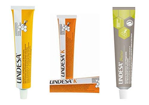Lindesa Handcreme TESTPAKET: 1 x Lindesa Klassik, 1 x Lindesa Natur + 1 x Lindesa K