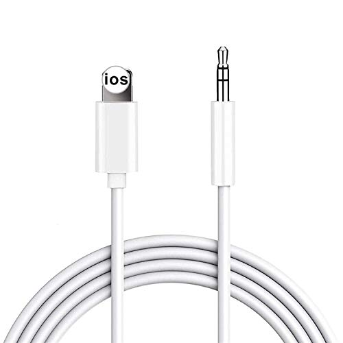 Aux Cord for iPhone,Cdyle Cable to 3.5 mm Jack Aux Audio Cord Adapter Compatible with iPhone 8 7 11 12 XS XR X iPad iPod for Car Home Stereo, Speaker, Headphone, Support All iOS Version - 3.3ft White