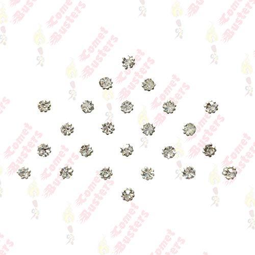 Comet Busters Diamond Collection Small Stone Silver Bindi (BIN190)