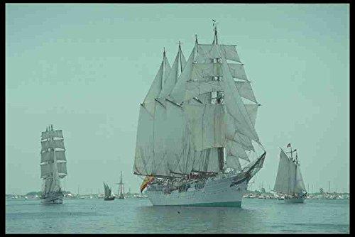 Metal Sign alto Sail barcos De barco 257077 Juan Sebastian De cuatro Elcano paquebote De la bandera De España A4 12 x 8 aluminio