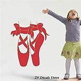 Baby Girl Raumdekoration Aufkleber Vinyl Wandaufkleber Ballerina Ballettschuhe Spitze Raumdekoration Abnehmbare Wandtattoo Kinder